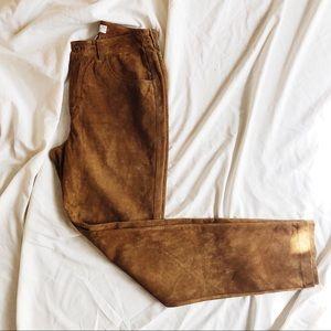 Vintage Light Brown Leather Pants